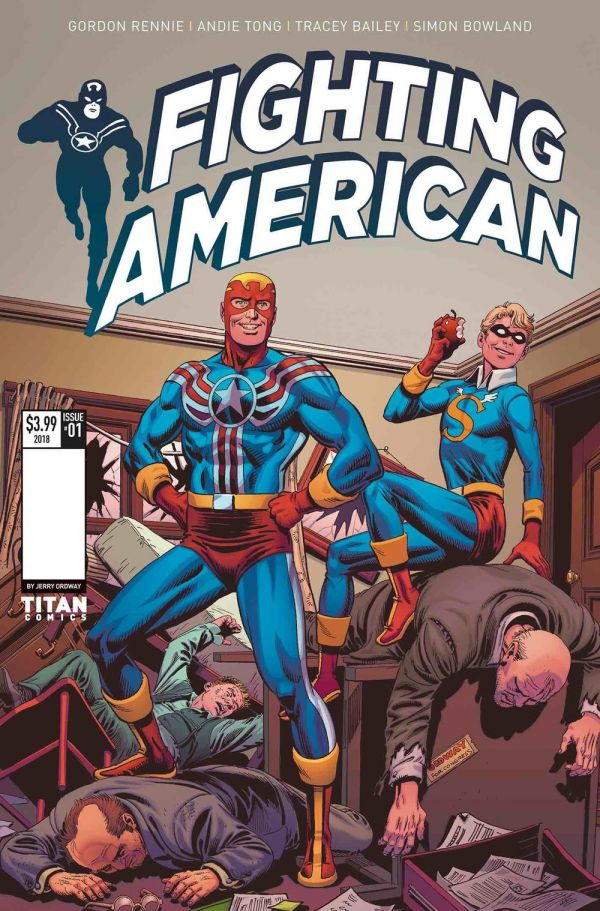 FIGHTING AMERICAN #1 COVER BY JERRY ORDWAY
