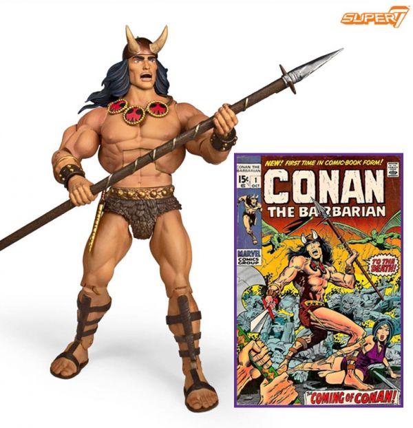 Figura Conan The Barbarian Deluxe Conan Comic book Super7