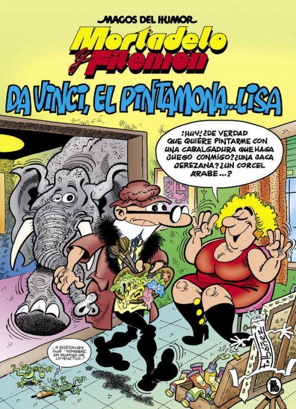 Magos del humor 198: Da Vinci, el pintamona... Lisa (Mortadelo y Filemón)