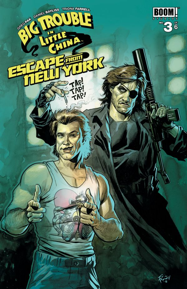 BIG TROUBLE LITTLE CHINA ESCAPE NEW YORK #3 SUBSCRIPTION POW