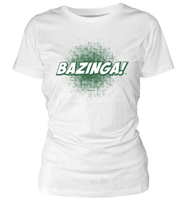 BAZINGA CAMISETA BLANCA CHICA THE BIG BANG THEORY (TALLA L)