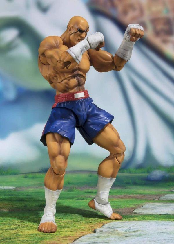Figura S.H. Figuarts Sagat Tamashii Web Exclusive Street Fighter 17cm