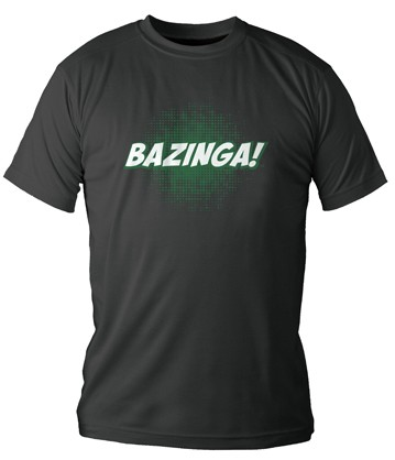 BAZINGA CAMISETA NEGRA CHICO THE BIG BANG THEORY (TALLA S)