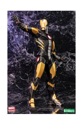 IRON MAN BLACK ARMOR ESTATUA 21 CM MARVEL COMICS AVENGERS NOW ART FX