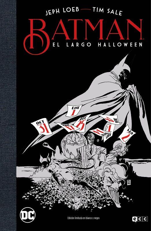 BATMAN EL LARGO HALLOWEEN EDICIÓN DELUXE LIMITADA BLANCO Y NEGRO